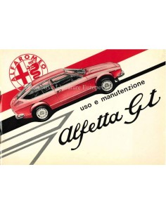 1975 ALFA ROMEO ALFETTA GT BETRIEBSANLEITUNG ITALIENISCH