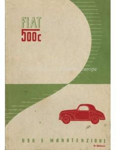 1951 FIAT 500 C BETRIEBSANLEITUNG ITALIENISCH