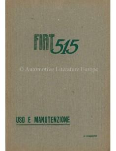 1931 FIAT 515 OWNERS MANUAL ITALIAN