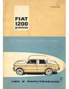 1960 FIAT 1200 GRANLUCE BETRIEBSANLEITUNG ITALIENISCH