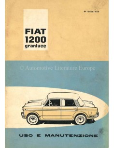 1960 FIAT 1200 GRANLUCE OWNERS MANUAL ITALIAN