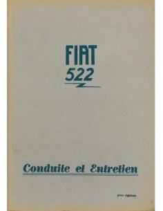 1931 FIAT 522 BETRIEBSANLEITUNG FRANZÖSISCH