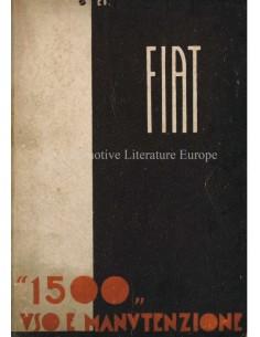 1938 FIAT 1500 OWNERS MANUAL ITALIAN