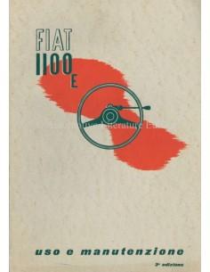 1950 FIAT 1100 E OWNERS MANUAL ITALIAN