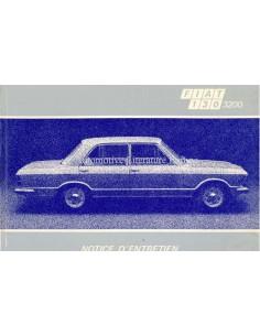 1972 FIAT 130 3200 LIMOUSINE BETRIEBSANLEITUNG FRANZÖSISCH