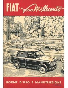 1954 FIAT 1100 BETRIEBSANLEITUNG ITALIENISCH