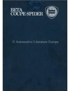 1978 LANCIA BETA COUPE SPIDER BETRIEBSANLEITUNG ENGLISCH
