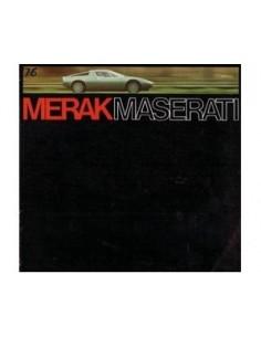 1974 MASERATI MERAK BROCHURE DUITS