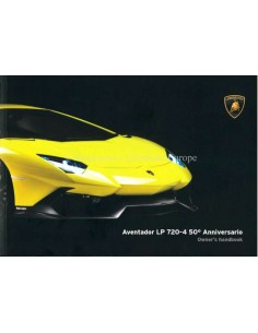2013 LAMBORGHINI AVENTADOR LP 720-4 50° ANNIVERSARIO BETRIEBSANLEITUNG ENGLISCH