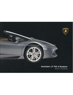2014 LAMBORGHINI AVENTADOR LP 700-4 ROADSTER OWNERS MANUAL ENGLISH