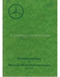 1937 MERCEDES BENZ TYPE 320 BETRIEBSANLEITUNG DEUTSCH