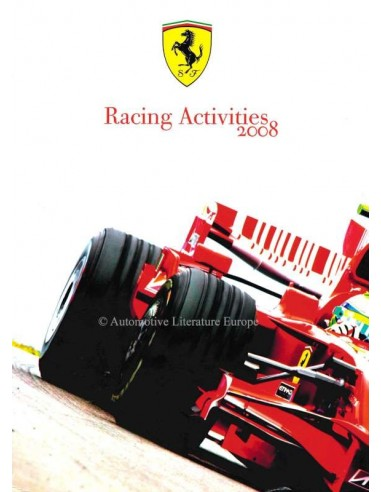 2008 FERRARI RACING ACTIVITIES JAARBOEK ITALIAANS / ENGELS
