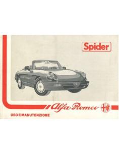 1990 ALFA ROMEO SPIDER INSTRUCTIEBOEKJE ITALIAANS