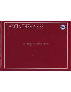 1987 LANCIA THEMA 8.32 HARDCOVER BROCHURE DUITS