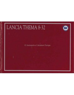 1987 LANCIA THEMA 8.32 HARDCOVER PROSPEKT DEUTSCH