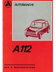 1970 AUTOBIANCHI A112 BETRIEBSANLEITUNG ITALIENISCH