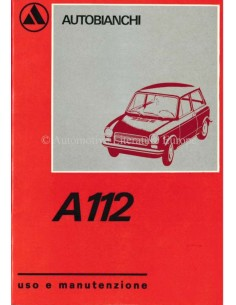 1970 AUTOBIANCHI A112 OWNERS MANUAL ITALIAN