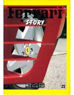 1989 FERRARI STORY 348 MAGAZINE 21 ENGELS / ITALIAANS