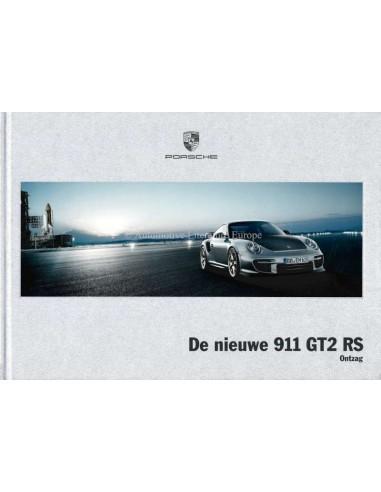 2010 PORSCHE 911 GT2 RS HARDCOVER BROCHURE NEDERLANDS