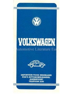 1947 VOLKSWAGEN BROCHURE DUTCH