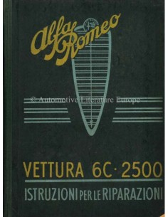 1949 ALFA ROMEO 6C 2500 SPORT & SUPER SPORT OWNERS MANUAL ITALIAN