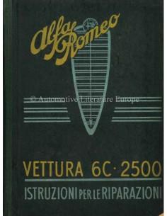 1949 ALFA ROMEO 6C 2500 SPORT & SUPER SPORT REPARATIE HANDBOEK ITALIAANS