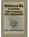 1927 ALFA ROMEO R.L. TOURING & SUPERSPORTS INSTRUCTIEBOEKJE ITALIAANS