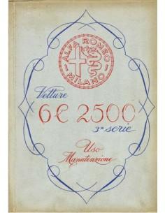 1949 ALFA ROMEO 6C 2500 SPORT & SUPERSPORT BETRIEBSANLEITUNG ITALIENISCH