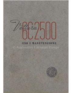 1939 ALFA ROMEO 6C 2500 TURISMO & SPORT BETRIEBSANLEITUNG ITALIËNISCH