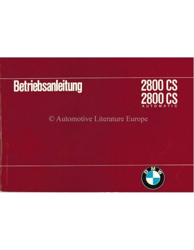 1969 BMW 2800 CS / 2800 CS AUTOMATIC