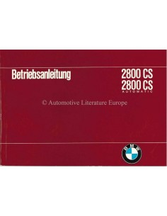 1969 BMW 2800 CS / 2800 CS AUTOMATIC OWNERS MANUAL GERMAN