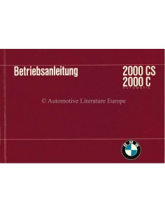 1966 BMW 2000 CS / 2000 C AUTOMATIC OWNERS MANUAL GERMAN