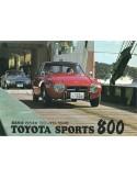 1965 TOYOTA 800 SPORT BROCHURE JAPANISCH