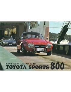 1965 TOYOTA 800 SPORT BROCHURE JAPANESE