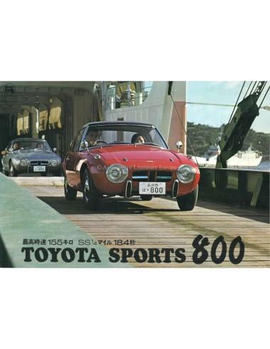 1965 TOYOTA 800 SPORT BROCHURE JAPANS