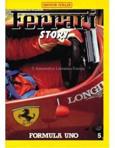 1985 FERRARI STORY FORMULA UNO MAGAZINE 5 ENGELS / ITALIAANS