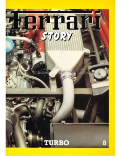 1986 FERRARI STORY TURBO MAGAZINE 8 ENGELS / ITALIAANS