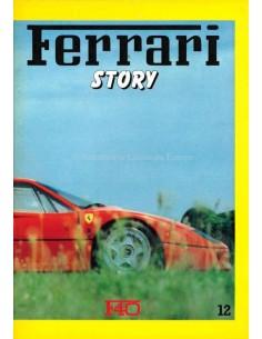 1987 FERRARI STORY F40 MAGAZINE 12 ENGELS / ITALIAANS