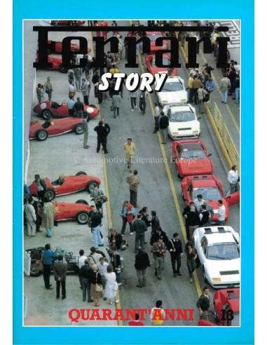 1987 FERRARI STORY QUARANT'ANNI MAGAZINE 13 ENGLISCH / ITALIENISCH