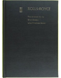 1971 ROLLS ROYCE SILVER SHADOW LONG WHEELBASE SALOON OWNER'S MANUAL ENGLISH