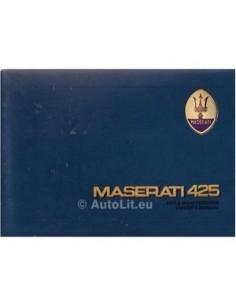1985 MASERATI 425 OWNERS MANUAL ENGLISH