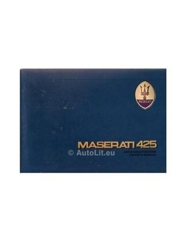 1985 MASERATI 425 INSTRUCTIEBOEKJE ENGELS
