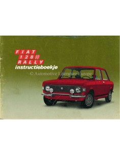 1972 FIAT 128 RALLY OWNERS MANUAL DUTCH