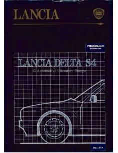1985 LANCIA DELTA S4 PRESSEMAPPE DEUTSCH