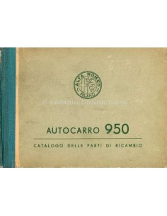 1956 ALFA ROMEO AUTOCARRO 950 ONDERDELENHANDBOEK ITALIAANS