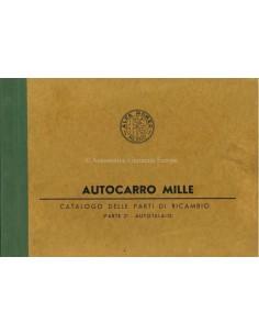 1958 ALFA ROMEO AUTOCARRO 1000 CAROSSERIE ONDERDELENHANDBOEK ITALIAANS