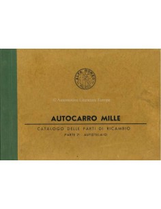1958 ALFA ROMEO AUTOCARRO 1000 FAHRGESTELL ERZATSTEILKATALOG ITALIENISCH