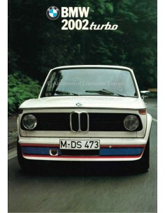 1974 BMW 2002 TURBO BROCHURE ITALIAN