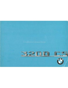 1964 BMW 3200 CS BROCHURE ITALIAN