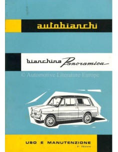 1962 AUTOBIANCHI BIANCHINA PANORAMICA OWNERS MANUAL ITALIAN